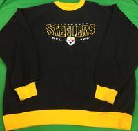 VTG 90's Lee Sports Pittsburgh Steelers NFL Crewneck SZ XL Big Spell Out Logo OG