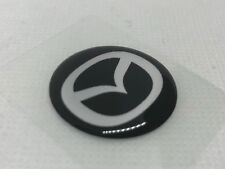 2 pcs. Mazda logo badge sticker. 30mm. Domed 3D Stickers/Decals.