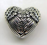 PANDORA Genuine Angelic Wings Heart charm Sterling Silver S925 ALE 791751