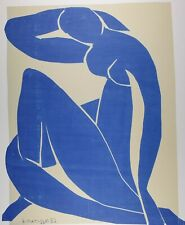 Henri Matisse, Blue Nude I, Plate Signed Lithograph