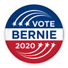 "3"" Political Campaign Pin - Vote Bernie Sanders 2020 - Shooting Star Design"