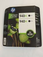 HP 940XL Two Pack High Capacity Black Ink Cartridges Sealed NEW IN BOX EXP 2014