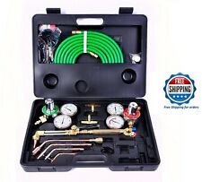 Victor Type Welding Kit Acetylene Cutting Torch Oxygen Gas Regulators + Case New
