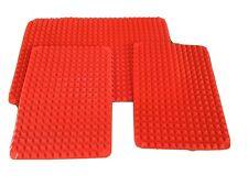 Pyramid Pan Silicone Baking Mat, Red, New, Set Of 3
