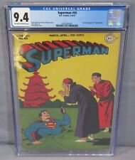 SUPERMAN #45 (Golden Age) Unrestored CGC 9.4 NM OW to White Pgs DC Comics 1947