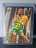 1995-96 Gary Payton Fleer Ultra All-NBA Team #9 Basketball Card