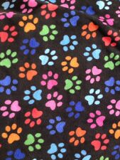 CHILD LITTLE PAWS BLANKET FLEECE Soft Warm bed travelling 95x70cm washable