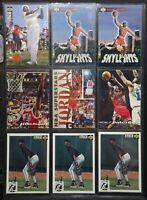 Michael Jordan Pack of 9 NBA Cards - Upper Deck, Topps Stadium Club, Fleer