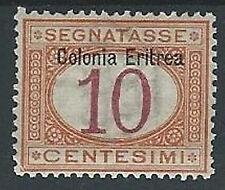 1903 ERITREA SEGNATASSE 10 CENT LUSSO MH * - K045
