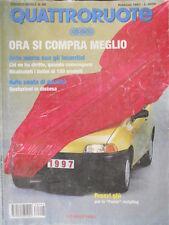 Quattroruote 496 1997 Prezzi giù per la Punto restyling.Al volante Honda Prelude