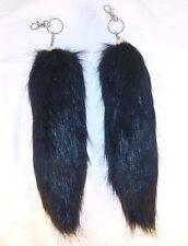 Jumbo Black Fox Tail Key Chain foxes wild animals New imatation animal fur New