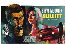 Bullitt *LARGE POSTER* Steve McQueen FILM 68' Ford Mustang GT 68' Dodge Charger