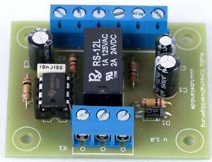 Audio Timer mit NE 555 gegen starke Einschaltgeräusche - Bausatz
