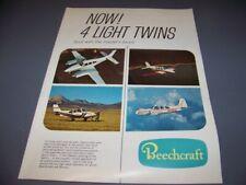 VINTAGE..BEECHCRAFT C55 BARON, B55, D95A.. ORIGINAL SALES BROCHURE..RARE! (447U)