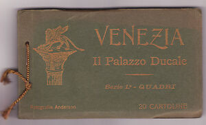 Small album Venice The ducal palace First series Paintings 1910c Anderson S762