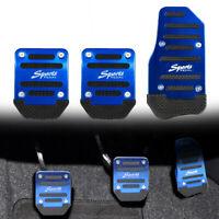 3Pcs Universal Blue Non Slip Car Pedal Pad Cover Car Interior Decor Accessories