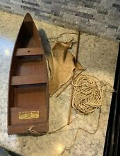 Vintage 22 1/2� Pond Sailboat Seaworthy Boats Jacrim Chester Wood Green Paint