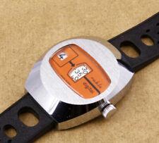 Ruhla Jump Hour Orange Vintage Mechanical Watch VERY SLIGHTLY USED