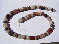 New listing 66.8 gram Henry Mountain Petrified Wood Beads 12x10mm + 10x6mm - 16 inch strand