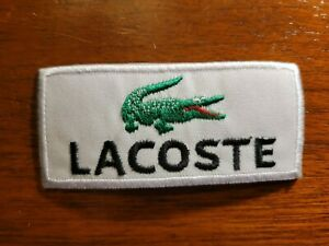"""LACOSTE IRON ON PATCHES  3.5""""X1.75"""""""