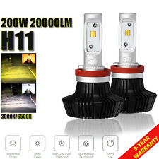7HL H11 200W 20000LM Philips CSP LED Headlight Kit Fog Light Bulbs 3000K/6500K