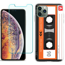 TPU Case for Apple iPhone 11 Pro + Tempered Glass - Cassette Orange