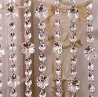 1M Glass Crystal Garland Chain Hanging Strand  Diamond Bead Wedding Tree Decor