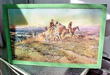 CHARLES M. RUSSELL ' MEN OF THE OPEN RANGE ' Colson COLSOCOLOR OLD REPRODUCTION