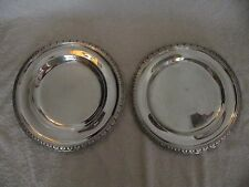French sterling silver (minerve) round trays Odiot Empire style 943gr