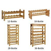 Bamboo 12 -36 Bottle Wine Rack Wine Holder Bottle Rack Bar Display Shelf Stand