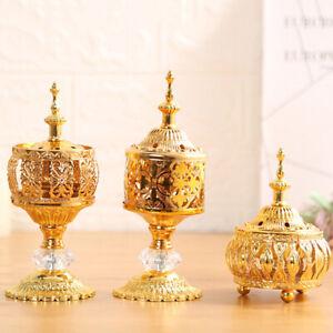 Traditional Arabian Incense Burner Metal Bakhoor Censer Home Fragrances Diffuser