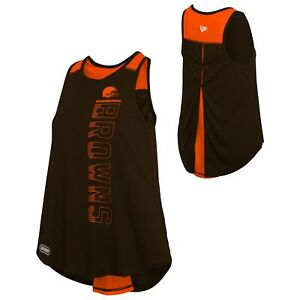 New Era NFL Women's Cleveland Browns Combine Over The Top Tank Top