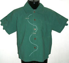 New 100% Cotton Boys Smart Green Short Sleeve Shirt Top Large 8-10 Years