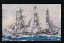 Shipping Tall Ship COSPATRICK 1945 artist drawn PPC