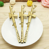 Fashion Design Gold Rifle Shape Black Ink Ballpoint Pen Gel Stationery Office