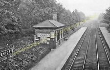 Davenport Railway Station Photo. Stockport - Hazel Grove. Middlewood Line. (3)
