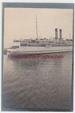 (F11019) Orig. Foto Trajektschiff Saßnitz - Trelleborg 1913