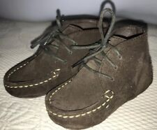 Cole Haan Infant Chukka Boots Brown Suede -soft Bottom Size 4C EUC