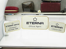 3 Eterna Uhrenaufsteller Messing Eterna Matic Etern. Collection 1836 60iger