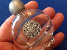 HOLY WATER Glass Bottle Vial Saint St BENEDICT Protection Metal Saint Medal