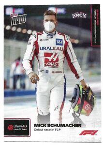 TOPPS NOW FORMULA ONE F1 2021 MICK SCHUMACHER ROOKIE CARD NO 002