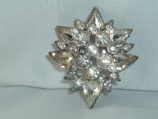 VINTAGE OLD RHINESTONE BROOCH PIN