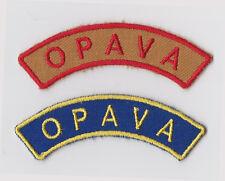SCOUTS OF CZECH REPUBLIC - OPAVA SCOUT & SEA SCOUT SHOULDER PATCH (2 VAR)