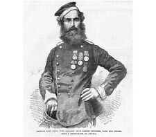 Private John Penn 17th Lancers with Medals from the Crimea - Antique Print 1856