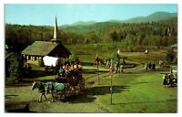 1950s/60s Frontier Town in the Adirondacks near Schroon Lake, NY Postcard