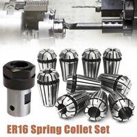 10x ER16 Spannzange 1-10mm Set + ER16 8mm Spannzangenaufnahme Für Fräsmaschine