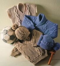 Knitting Pattern V Neck Sweater Shawl Collar Sweater ARAN Vest copy MANY SIZES