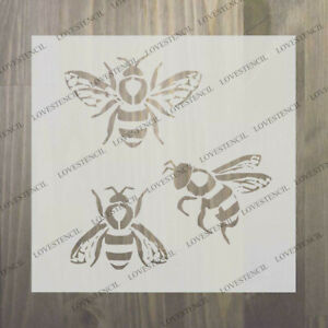 """bee butterfly dragonfly stencils craft,fabric,glass,furniture,wall art up to 33"""""""