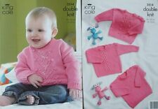 Knitting Pattern Baby Childs Sweater Jumper DK Double Knit 3 different designs