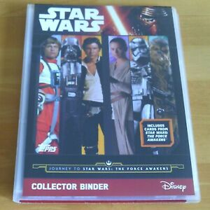 Topps STAR WARS - THE FORCE AWAKENS - Complete 207 x Trading Card Set & Binder.